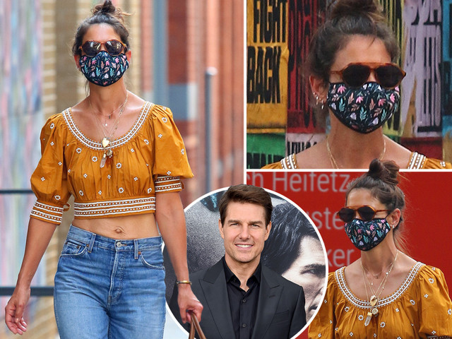 Katie Holmes, 41, flaunts impossible abs in crop top as she shops in SoHo on ex husband Tom Cruise's 58th birthday