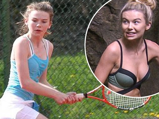 Georgia Toffolo shows off tennis skills in throwback snaps