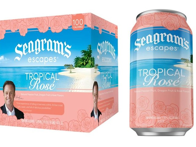 Collaborative Low-ABV Rosés - Seagram's Escapes Created Tropical Rosé with The Bachelor's Host (TrendHunter.com)
