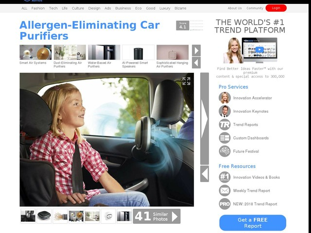Allergen-Eliminating Car Purifiers - The Philips 'GoPure' Air Purifier Eliminates Odors and More (TrendHunter.com)