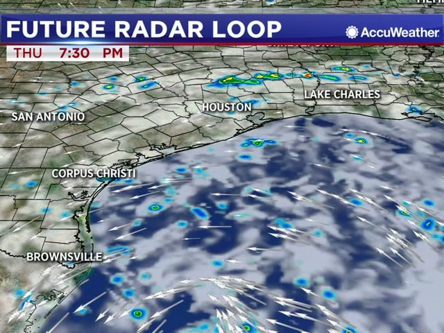 Tropical downpours moving across southeast Texas