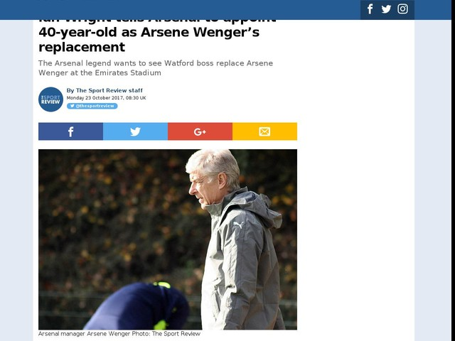 Ian Wright tells Arsenal to appoint 40-year-old as Arsene Wenger's replacement