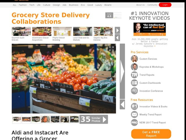 Grocery Store Delivery Collaborations - Aldi and Instacart Are Offering a Grocer Delivery Service (TrendHunter.com)
