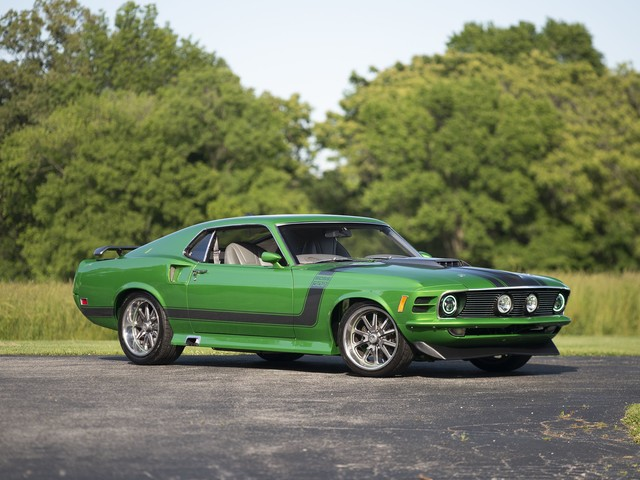 Metallic Green 1970 Ford Mustang with Coyote V8 Is Restomod Perfection