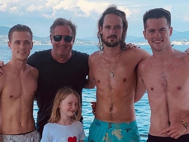 Piers Morgan says sons' lives have 'massively' changed amid covid-19 pandemic