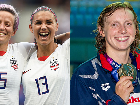 Olympic Gold Medalist Katie Ledecky Sounds Off On USWNT's Call For Equal Pay & How She's Prepping For 2020