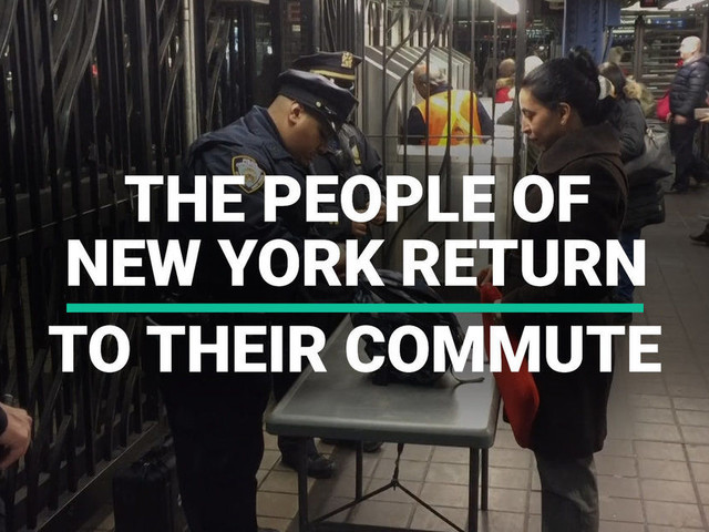The People of New York Return To Their Commute After Attack