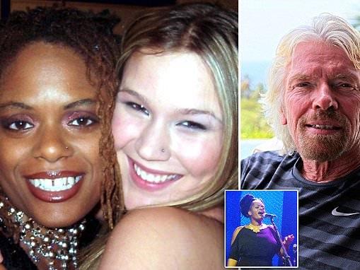 Sir Richard Branson is accused of 'motorboating' singer