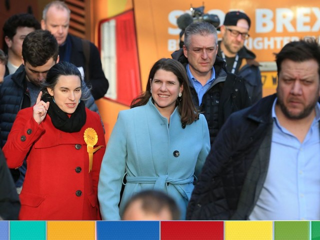 Swinson hints she would work with Labour if Corbyn quit