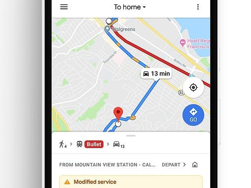 Google Maps launches commute tab that shows live traffic info and train delays