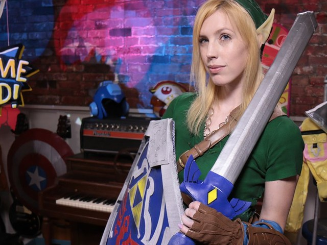 How to make a gender-bending Link costume using belts, hot glue, and spray paint