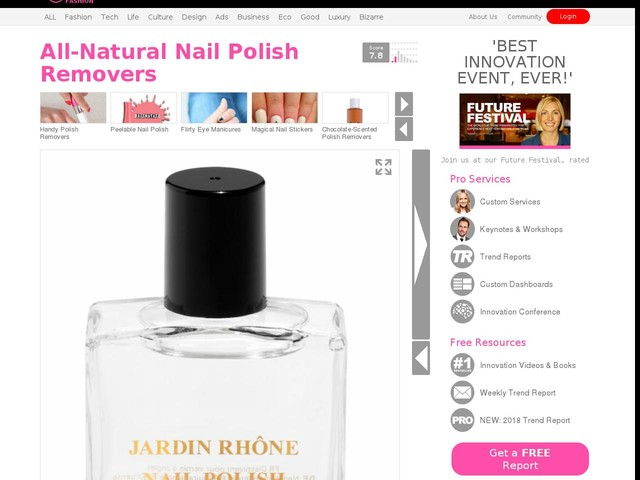 All-Natural Nail Polish Removers - & Other Stories' Nail Polish Remover Has 100% Natural Ingredients (TrendHunter.com)