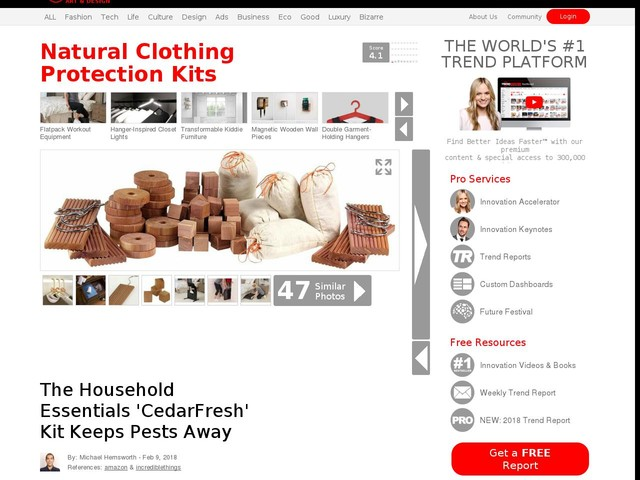 Natural Clothing Protection Kits - The Household Essentials 'CedarFresh' Kit Keeps Pests Away (TrendHunter.com)