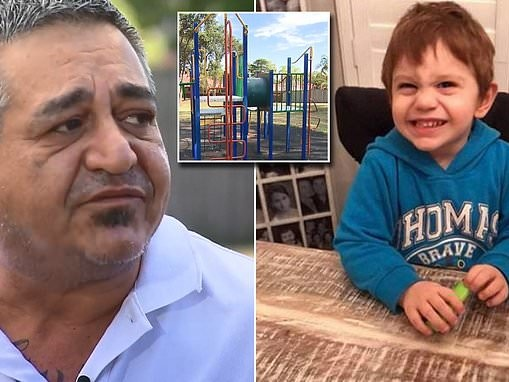 Dad weighs up whether to turn off son's life support after freak playground accident