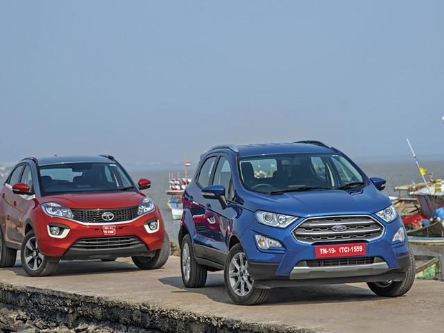 Review: 2017 Ford EcoSport vs Tata Nexon petrol comparison