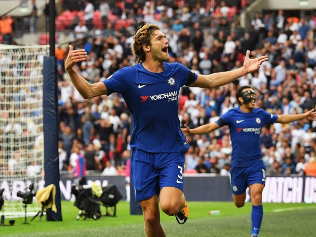 Marcos Alonso restores the natural order of things as Chelsea beat Spurs at Wembley