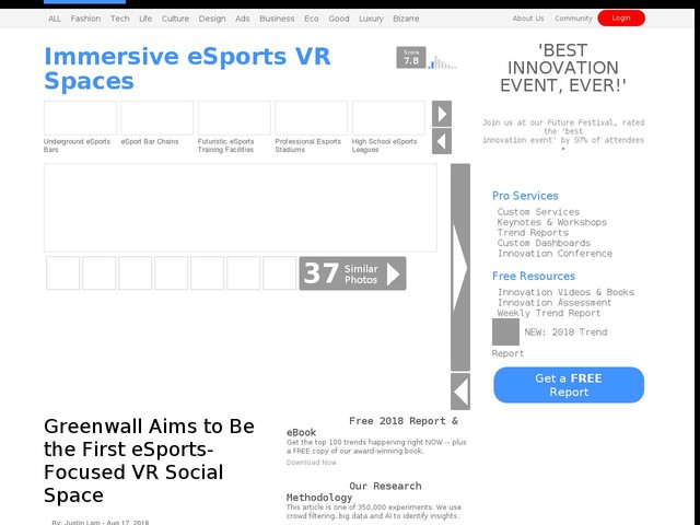 Immersive eSports VR Spaces - Greenwall Aims to Be the First eSports-Focused VR Social Space (TrendHunter.com)