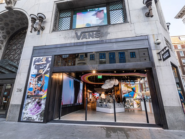 Vans is opening its largest European store on Oxford Street next week