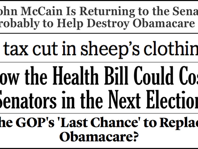 Abbreviated pundit roundup: Senate GOP poised to vote on taking away health insurance from millions