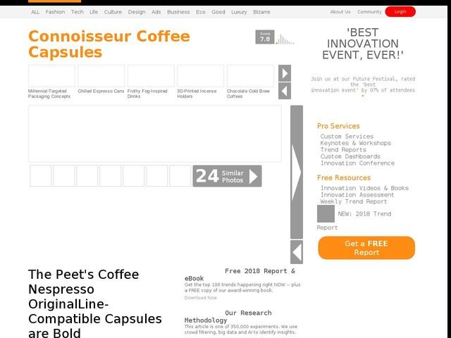 Connoisseur Coffee Capsules - The Peet's Coffee Nespresso OriginalLine-Compatible Capsules are Bold (TrendHunter.com)