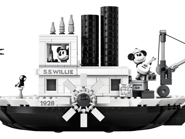 LEGO Celebrates Mickey's 90th with New Must-Have Steamboat Willie Set!