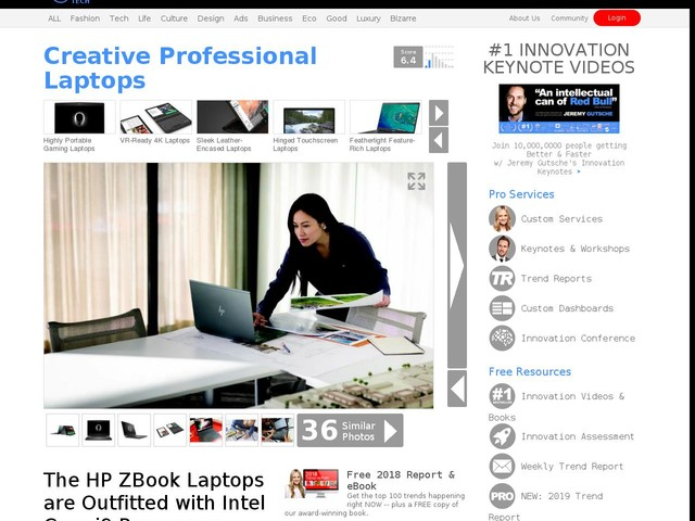 Creative Professional Laptops - The HP ZBook Laptops are Outfitted with Intel Core i9 Processors (TrendHunter.com)