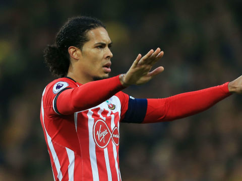 Van Dijk training alone as he wants to leave Southampton