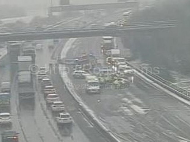 Live: Delays on M1 after crash near East Midlands Airport