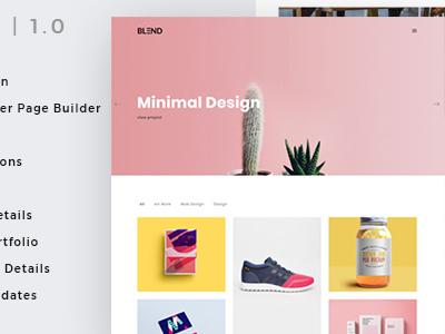 Blund Minimal Portfolio WordPress Theme (Portfolio)