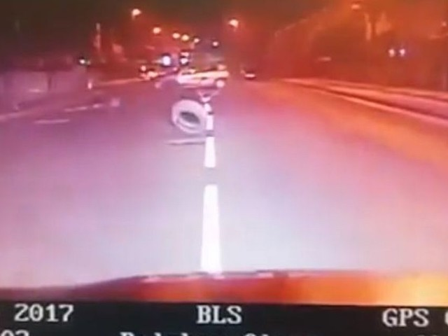 Dashcam footage shows driver leading police on 90mph chase before crashing into parked cars