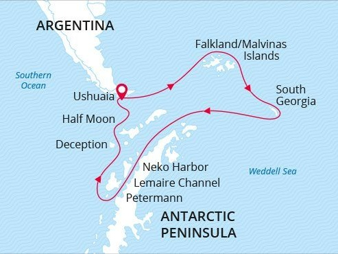 M/V Sea Spirit: 20-day Falklands, South Georgia & Antarctica