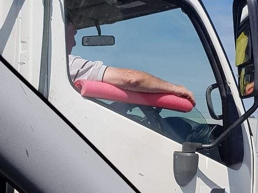 Perth truck driver's ingenious arm rest hack goes viral online