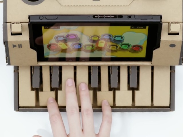 Nintendo Unveils the Future of Video Games, and It's … A Cardboard Piano?
