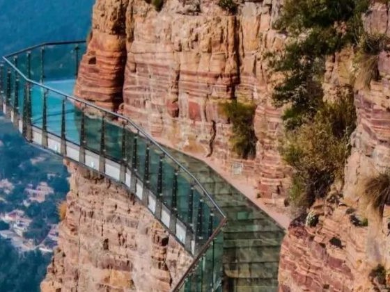 He Was Walking On A Glass Bridge. Within Seconds, It Started Shattering Under Him.