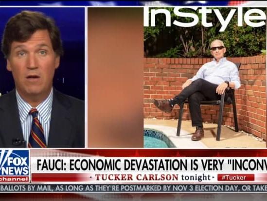 Tucker Carlson Blames Dr. Fauci for Coronavirus Economic Woes With Deceptive Clip (Video)