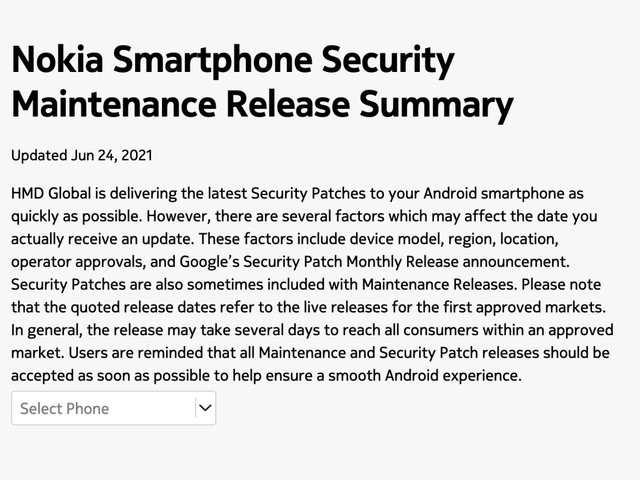Nokia Mobile updates the official update tracker
