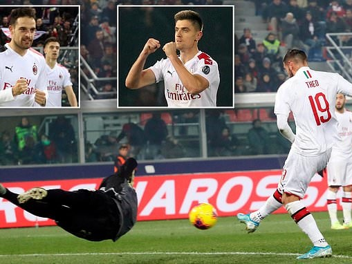 Bologna 2-3 AC Milan: Theo Hernandez strikes at both ends