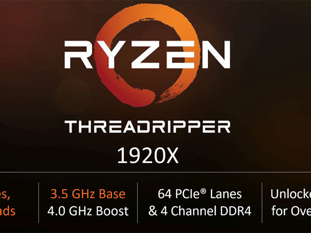 AMD Ryzen Threadripper 1920X 8-Core CPU Will Cost $549