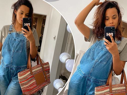 Pregnant Rochelle Humes dresses bump in dungarees because it 'feel right'