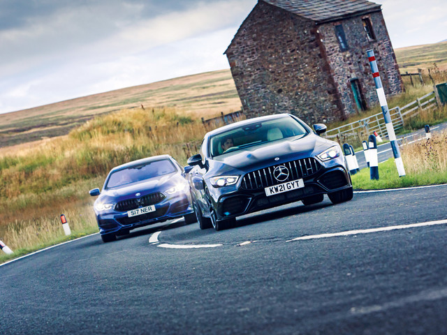 Battle bruisers: Mercedes-AMG GT 63 S vs Alpina B8 Gran Coupe