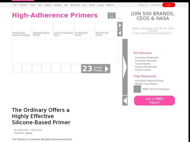 High-Adherence Primers - The Ordinary Offers a Highly Effective Silicone-Based Primer (TrendHunter.com)