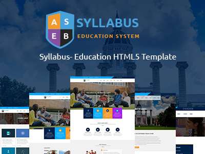Syllabus - Education Responsive HTML5 Template (Corporate)