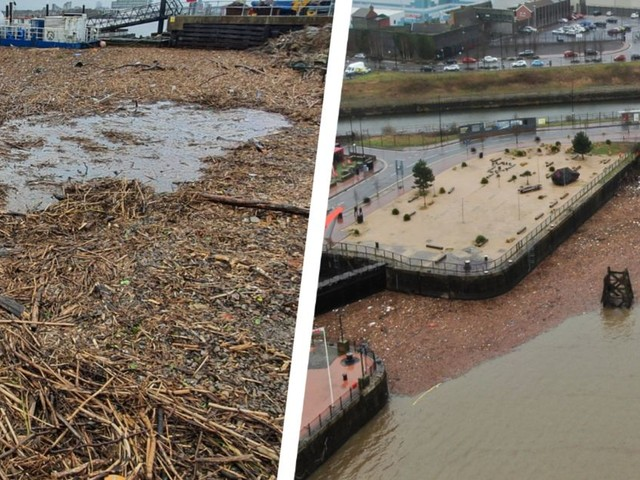 The mammoth task of cleaning up the River Taff and Cardiff Bay after Storm Dennis