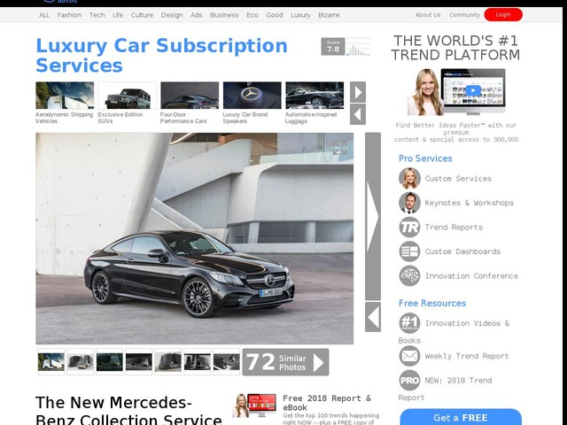 Luxury Car Subscription Services - The New Mercedes-Benz Collection Service will Launch in June (TrendHunter.com)