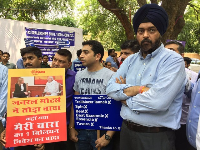 GM India dealers begin sit-in protest
