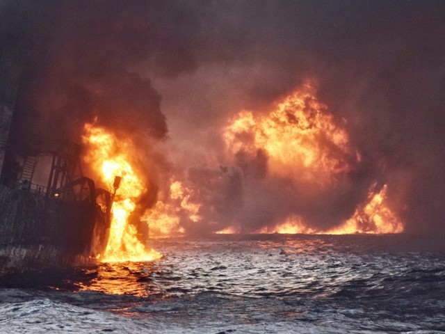 An oil spill off China's coast is the world's biggest since Deepwater Horizon — and it more than tripled in size over the weekend