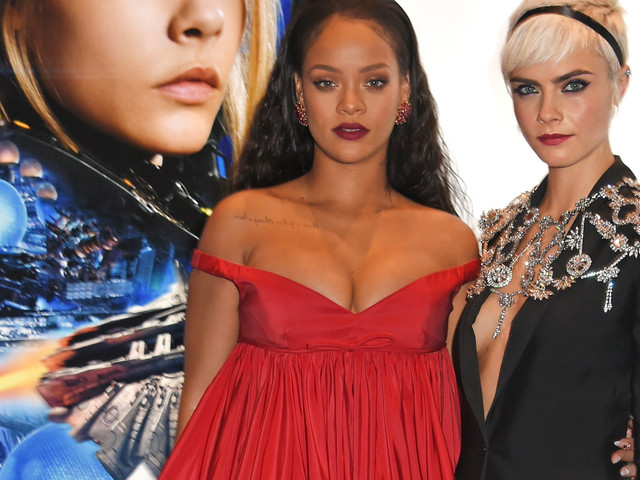 Rihanna And Cara Delevingne Make A Case For Plunging Necklines At 'Valerian' Premiere In London