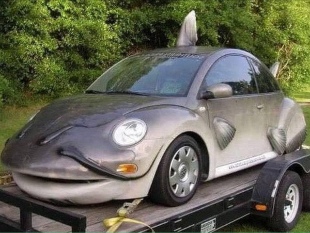VW Beetle Gets Catfished, Could Swallow Four Adults in One Go