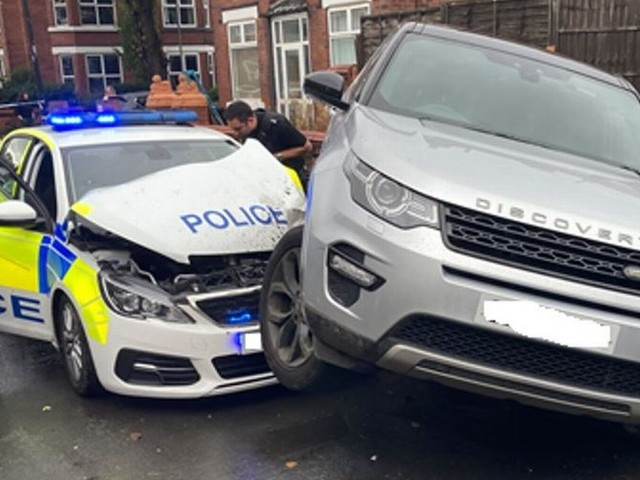Two men charged after Land Rover rammed police car during chase
