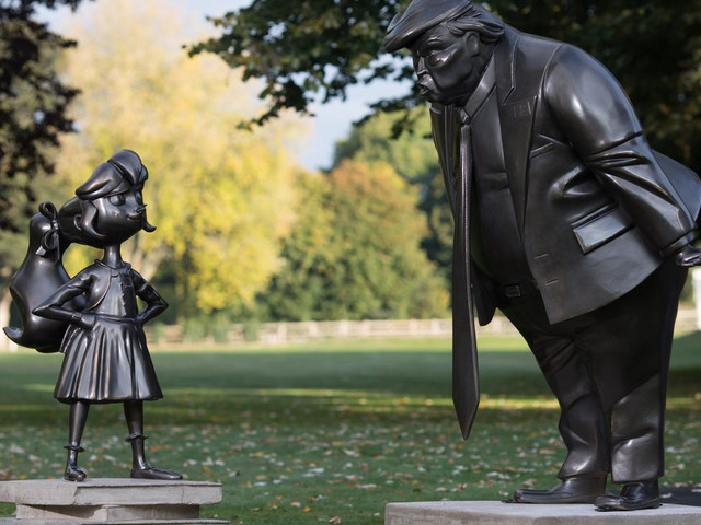 Roald Dahl's Matilda Squares Up To Donald Trump In 30th Anniversary Statues